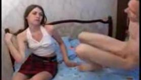 A su novia virgen le gusta esto tanto como este novedoso ejercicio en veggy anal