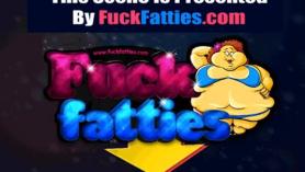 Pelirroja obesa follando en la camilla de masaje.
