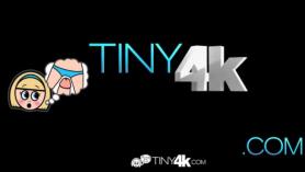 TINY4K, alta, rubia, rubia, adolescente, hermanastra, ladrona, con enormes tetas, camino, follada por un doloroso rescate, incapaz de luchar