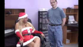 Feliz navidad negro en el squirting.