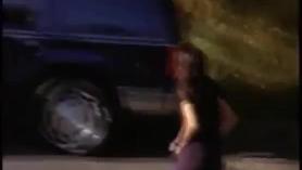 Stephanie Strong en tanga y salchicha de Texaco.
