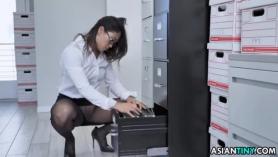 Oficinista asiática sexy.