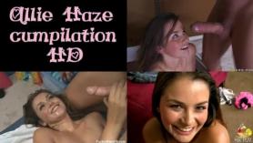 Trio con Allie Haze tiene un culito bien rico