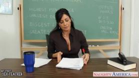 Profesora morena violando a su alumno
