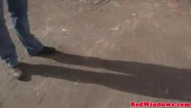 Hombre rusa mujer follando