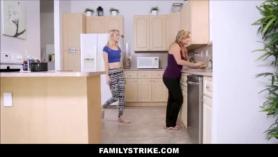 Hermana y mama con hambre de polla