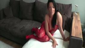 Morena anal corrida A la mierda con el pecho