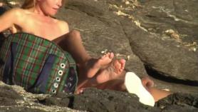 Sexo de la playa de miedo con linda ninfómana. Parte 2