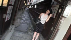 Naughty japanese beauty got banged in the kitchen outside her apartment and enjoyed it a lot