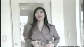 Japanese redhead is getting a sex toy up her ass and riding it like crazy