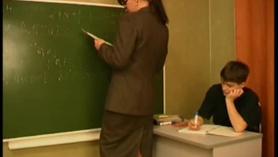 Hombre con profesora