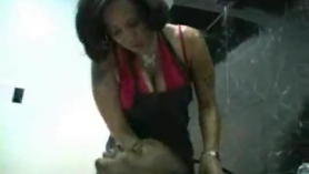 Ebony cock sucker with big boobs, ariella ferrera got fresh cum down her throat after sucking cock