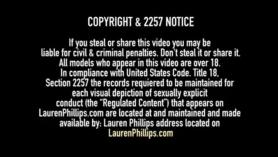 Lauren Phillips es follada brutalmente por el culo