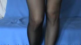 Sexy empresarial dama da un facial mezquino