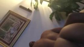 Selfie Sexy Ebony Babe en público