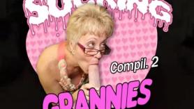 Chupar la abuela apretada mientras Stepdad está aburrida y lista para