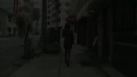 Mujer de oficina japonesa y cita guarra