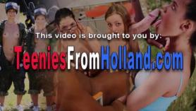 Impresionante nena holandesa y su masajista