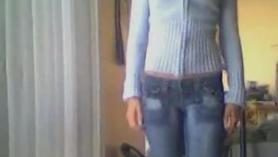 Latina amateur se desnuda en la webcam