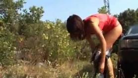 Joven rusa adolescente follando en cámara oculta