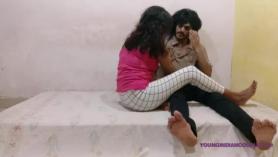 Pareja india caliente haciendo el amor romántico
