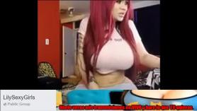 Sexy big tits rubia mami nora jean ama la polla joven
