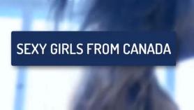 La estrella porno canadiense Sinnamon Fox hace a la esposa de su amiga con un super vibrador