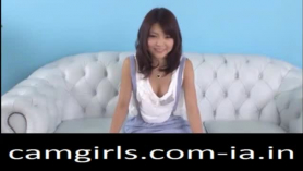 Japanese teen green naked on bed