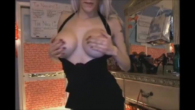 Blonde chick knows that her cash- roped way of getting money is to get down and dirty