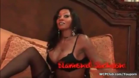 Black girl, slighty is getting fucked a few of her boys when she comes to live near