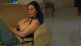 Busty wife ebony stud fucking hubby