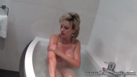 Lady sonia is offering her big tits to a stranger, instead of her husband, who is at work