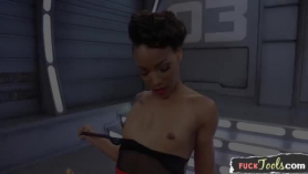 Ebony beauty with many dirty ideas on her mind is prolly about to have anal