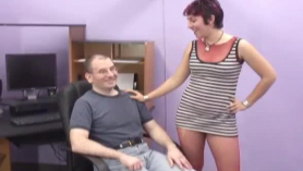 Chubby lady likes to stay home and masturbate, but she can also go to a porn video casting