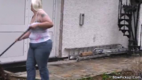Blonde gf with big tits