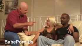 Horny blonde babe pleasuring herself