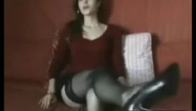 Sexy brunette with small tits while cheating. she needs her younger lover instead of a chick