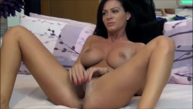 Gorgeous brunette in black stockings, kelsi monroe got fucked hard in her bed, like never before