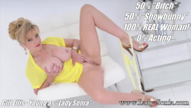 Insatiable blonde lady, adriana chechik got down on her knees to give a hard dick massage