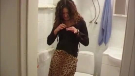 Sexy teens peeing and sucking cock on the dancing floor