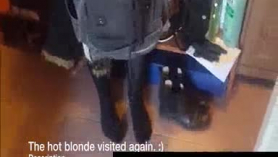 Lovely blondie is being a bit cruel with her colleagues because she wants to make them cum