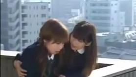 Lesbianas japonesas sexy en escena lesbiana