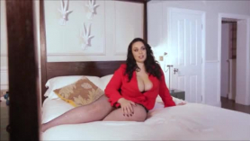 Voluptuous babe with long hair and big tits, olivia evans got stuffed with a big, black dick