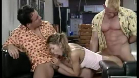 Blonde german girl in erotic stockings is getting fucked hard, in front of the camera