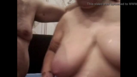 Big bodied mature sucking cock