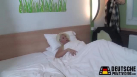 Gorgeous blond milf fucked from behind
