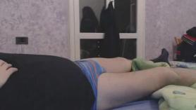 Puta negra gordita con clítoris perforado