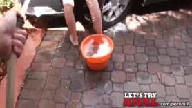 Selene von Slutty Teen Cutie Chupa la polla y se bombea profundamente
